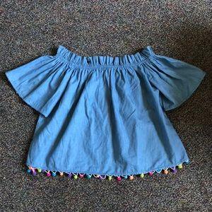 Ina Pom Pom top size small.